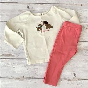 Girls 18m Play Clothes Outfit Gymboree Puppy Love
